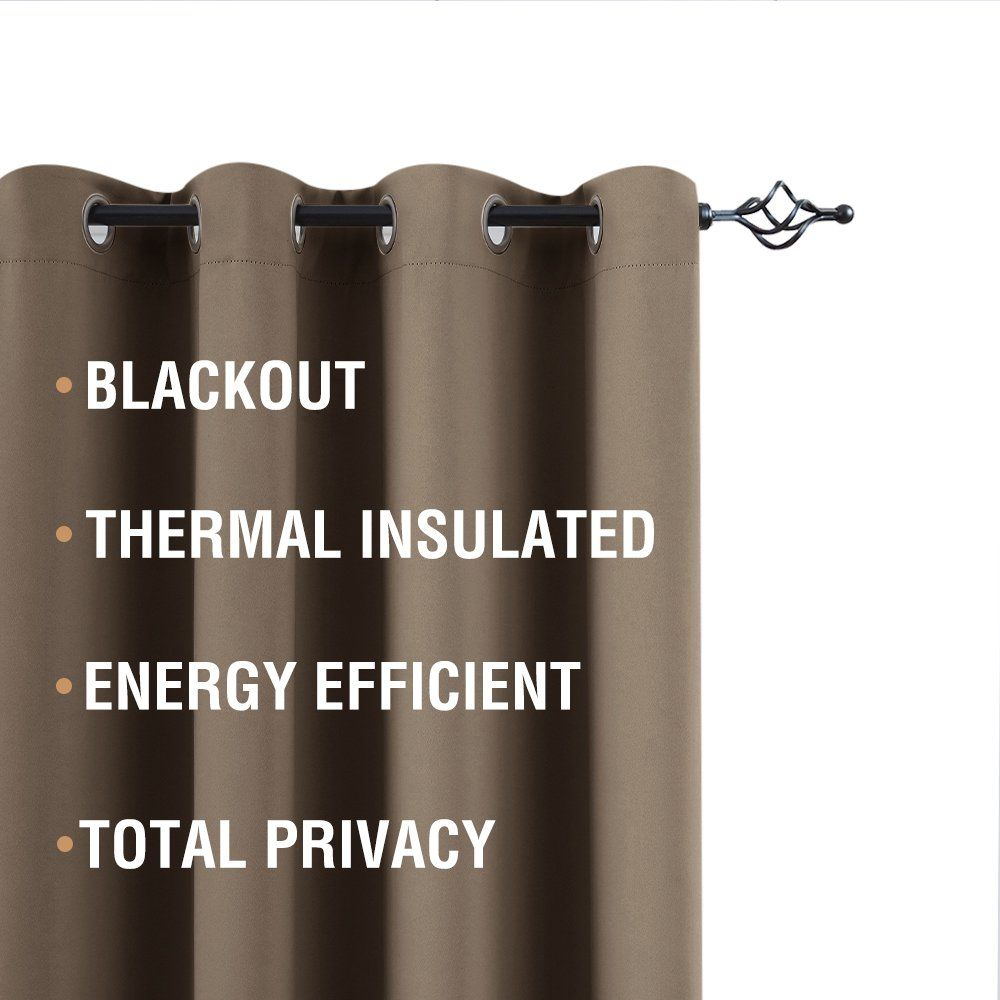 Triple Weave Blackout Curtains For Living Room Sheer Curtain And Blackout Curtain Set Thermal Ins With Images Heating Cooling System Window Insulation Curtains Living Room