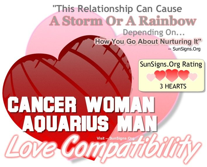 Cancer Woman And Aquarius Man - Can Be A Stormy Or