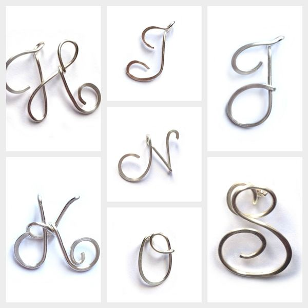 Sterling Silver Initial Necklace | Wire letters, Jewellery uk and ...
