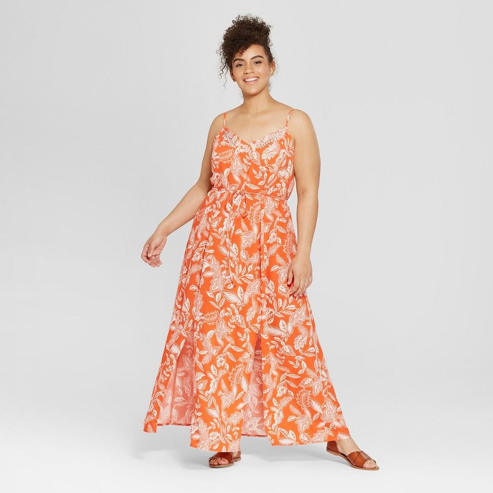 Women S Plus Size Floral Print Sleeveless Maxi Dress Xhilaration Red 2x Women S Plus Size Floral Print Sleeveless Ma In 2020 Maxi Dress Dresses Sleeveless Maxi Dress [ 1000 x 1000 Pixel ]