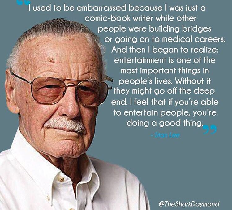 Follow Your Dreams Stan Lee Quotes Stan Lee Comic Book Writer