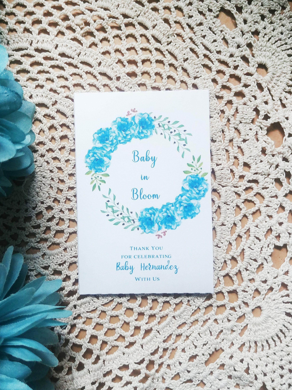 Baby in bloom seed packets custom wildflower seeds etsy