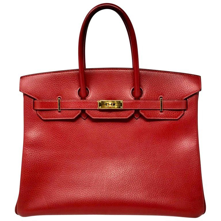 8608a58d969c For Sale on 1stdibs - Red Hermes Birkin 35 with gold hardware from ...