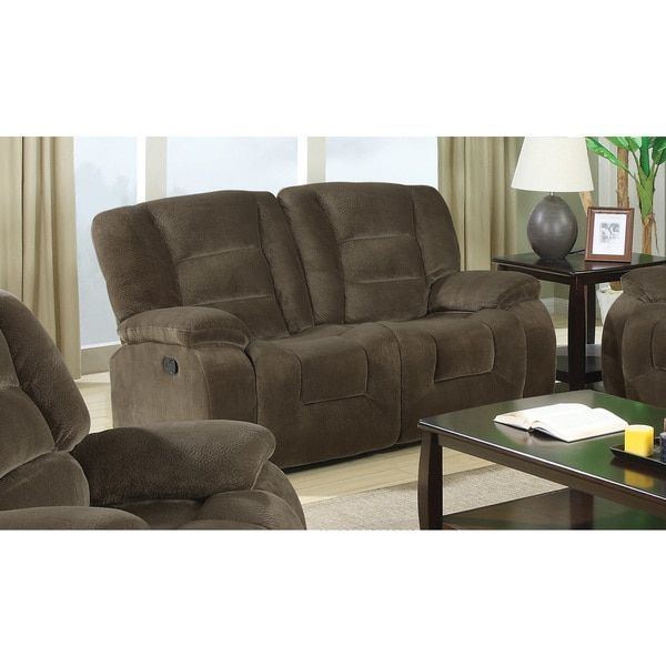 velvet center coaster with console company recliners recliner brown loveseat pin for