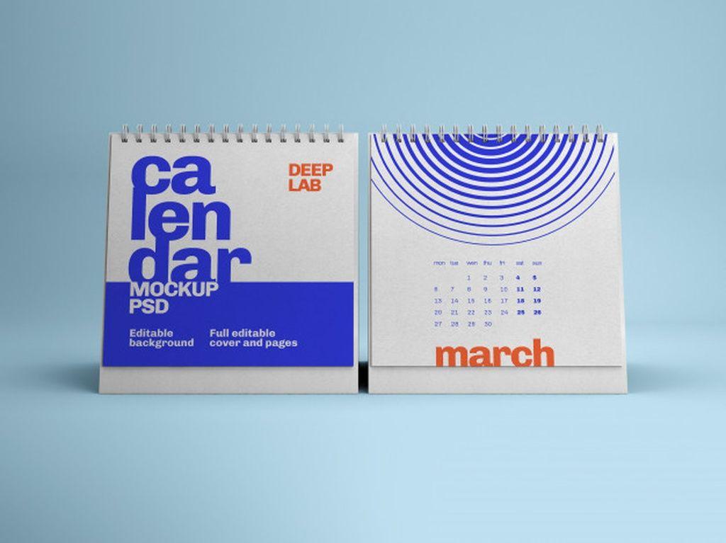 Download Free Mockup Kalender Yellow Images