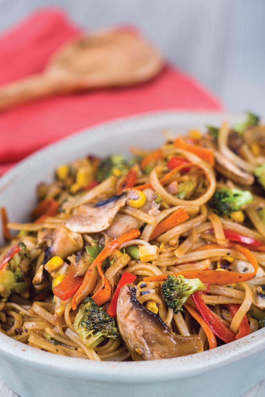 Rainbow Vegetable Chow Fun