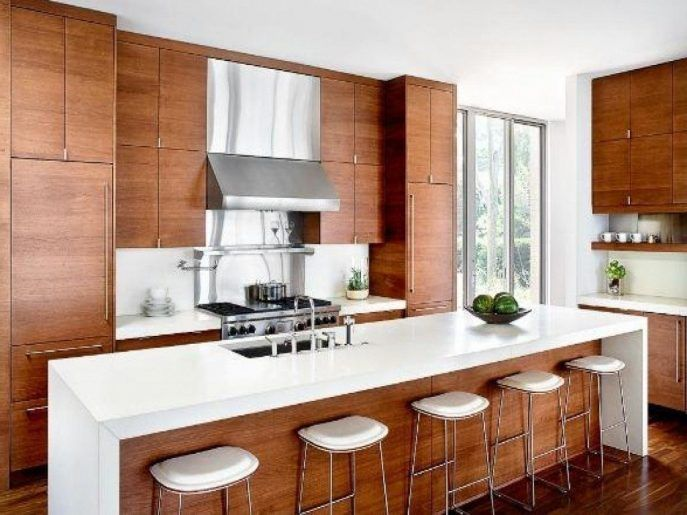 Kitchen Decoration:Natural Cherry Cabinets With Quartz ... on Natural Maple Cabinets With Quartz Countertops  id=66879