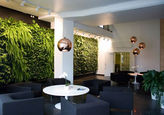 modern vertical garden design Garden with Modern Wall for Indoor