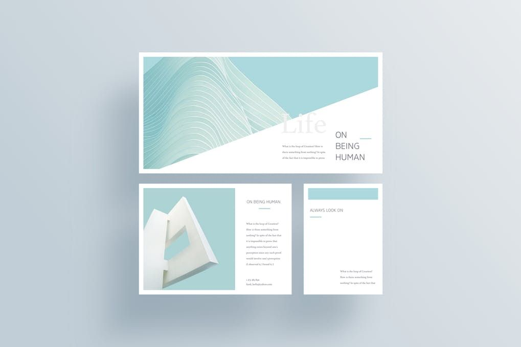 Minimal Business Card Brochure Flyer Template Sketch