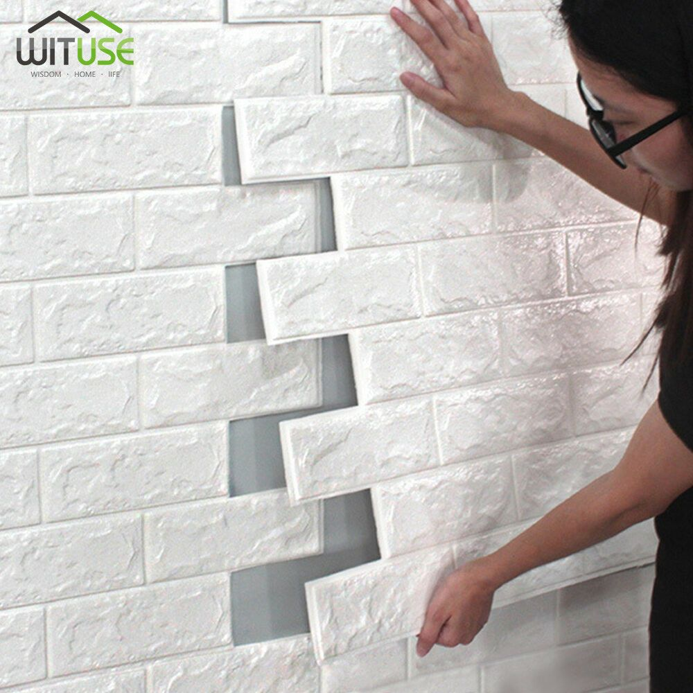 Wall Stickers Wallpaper 3d Self Adhesive Panels Brick Stone Pe