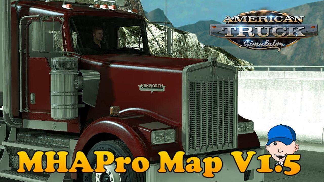 American truck simulator mhapro map v 1 5 episode 1