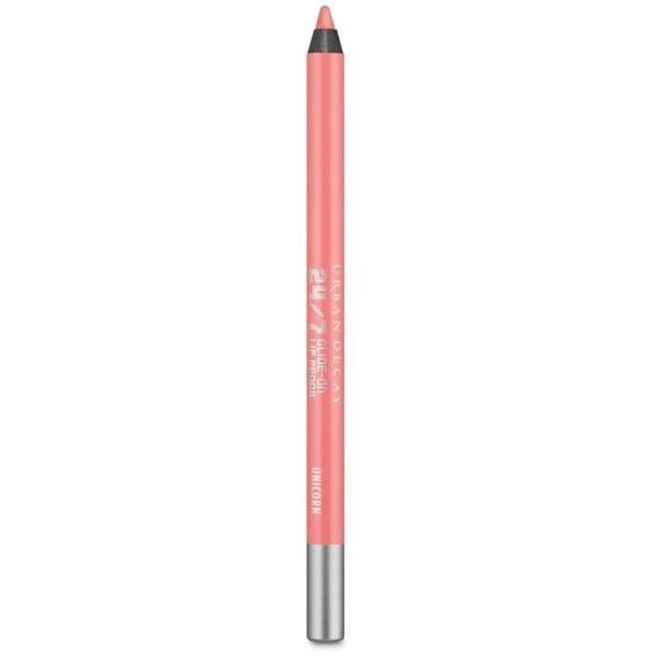 Urban Decay Unicorn 247 Glide-On Lip Pencil (300 ARS) ❤ liked on Polyvore featuring beauty products, makeup, lip makeup, lip pencils, lips, lipstick, unicorn, urban decay lip pencil, lip gloss makeup and urban decay