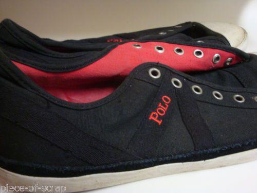 RALPH LAUREN POLO Mens Fashion sneakers 11 D Black Shoe Shoes Skater #polo #ralphlauren #ebay