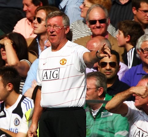 Sir Alex was upbeat after United and Chelsea drew 1-1 in London.
