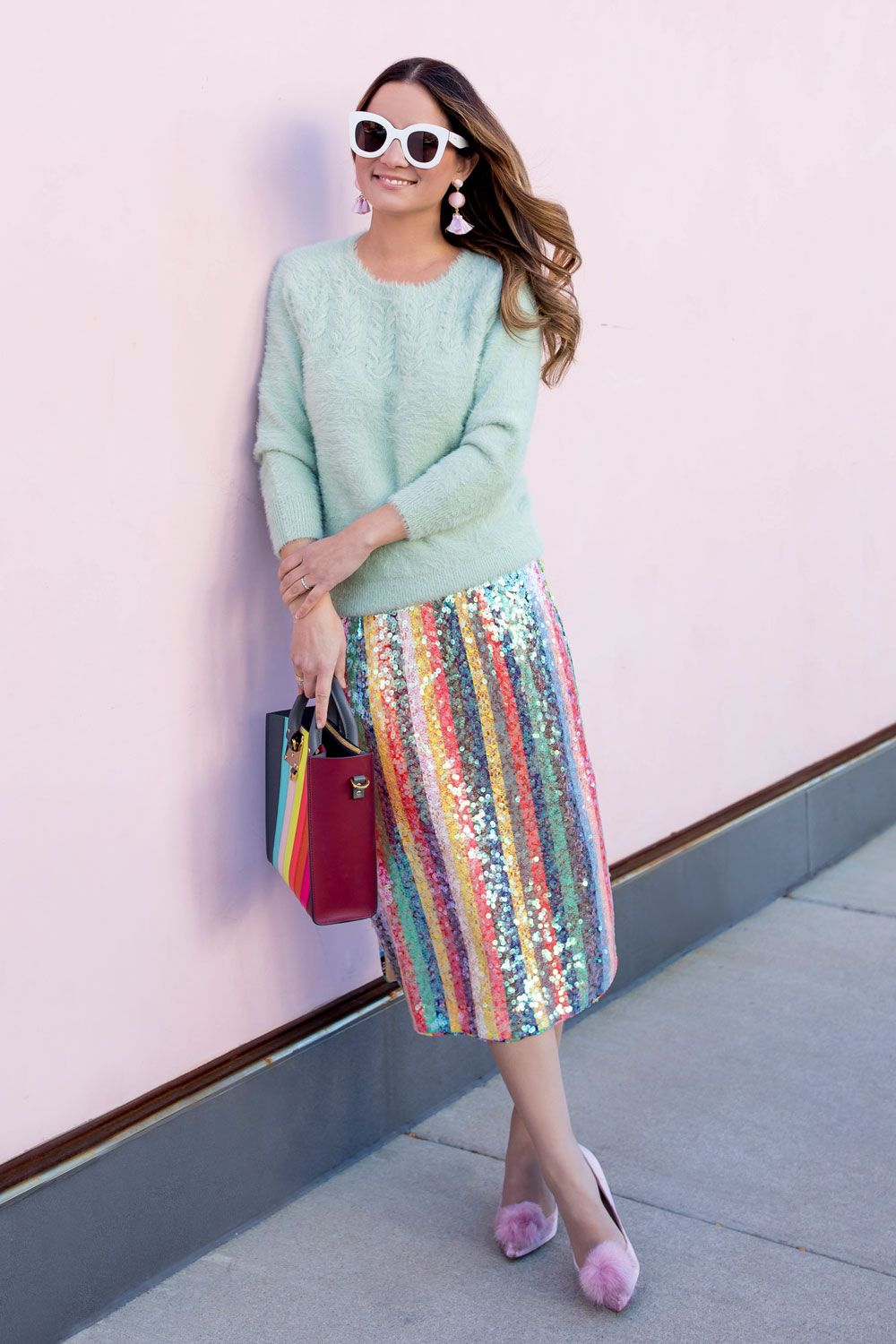 dfa1bf7a84ae Anthropologie Colorful Sequin Skirt. Anthropologie Colorful Sequin Skirt  Spring Shorts Outfits ...