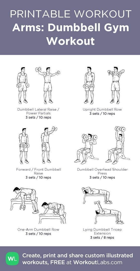 Arms workout: Dumbbell Gym arms Workout: this visual workout help you get your arms stronger fast #beginnerarmworkouts