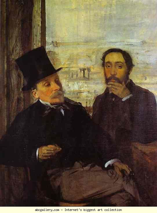 Edgar Degas. Degas and Evariste de Valernes, Painter and a Friend of the Artist.