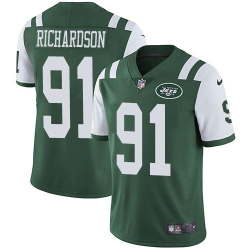 e8b0df060fa Nike Jets  91 Sheldon Richardson Green Team Color Men s Stitched NFL Vapor  Untouchable Limited Jersey And Joey Bosa jersey