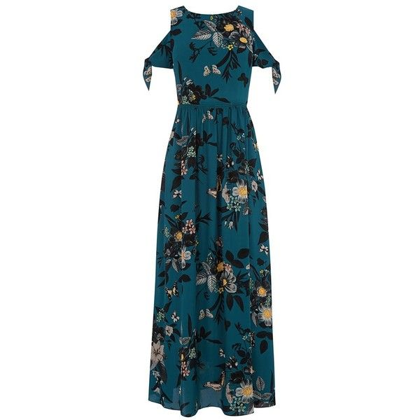 Oasis Shipwrecked Cold Shoulder Maxi Dress 57 Liked On Polyvore Featuring Dresses Floral Print Dress Cold Shoulder Dresses Floral Cold Shoulder Dress F