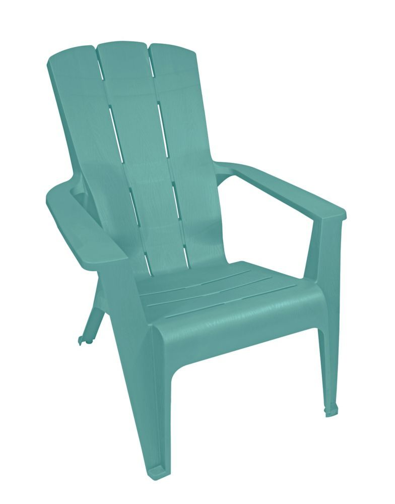 Muskoka Contour Chair In Teal Home Depot Adirondack Chairs