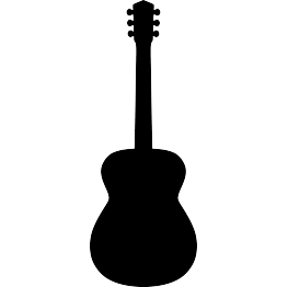Music Silhouettes Guitar Outline Silhouette Clip Art Music Silhouette