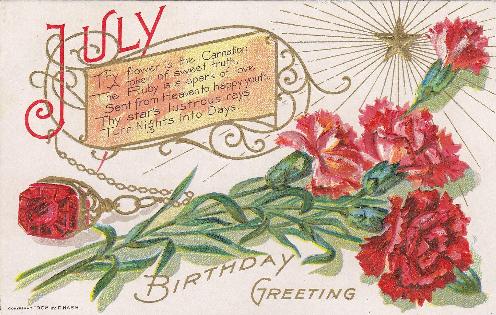 Carnation Month Of July Flower Printables Pinterest Flower