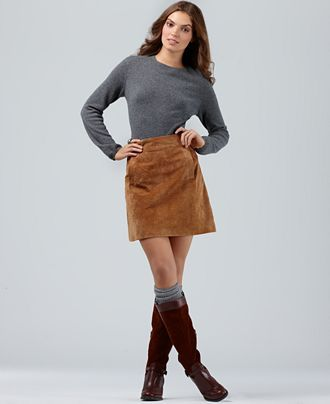 suede skirt!