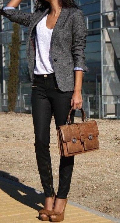 Más de 20 ideas de trajes de trabajo elegantes para mujeres de moda – fashion beauty