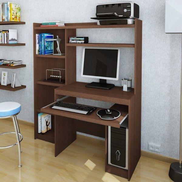 Resultado de imagen para mueble integrado para computador - Mueble escritorio moderno ...
