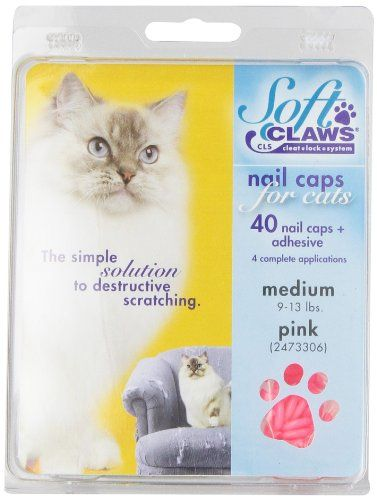Soft Claws for Cats  CLS Cleat Lock System Size Medium Color Pink ** Click on the image for additional details.