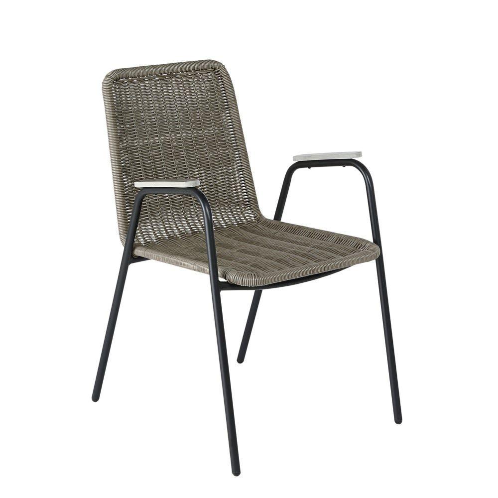 Taupe Garden Armchair Maisons Du Monde In 2020 Furniture Armchair Outdoor Chairs