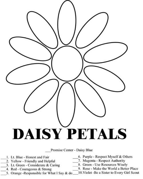 Daisy Girl Scout Law Promise Coloring Pages Girl Scout Law