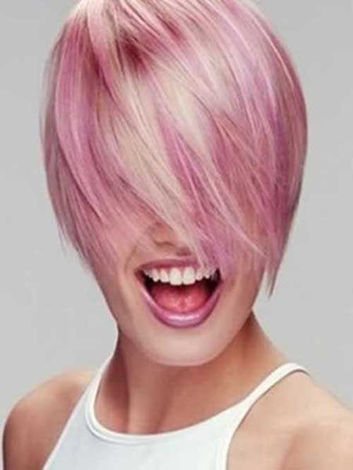 Korte Kapsels Pink Hair - Korte Kapsels