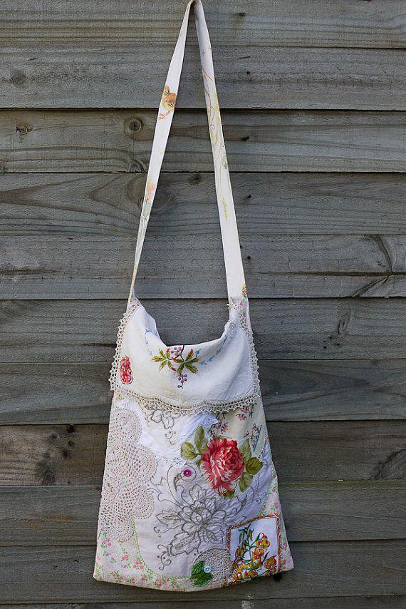 Rose Applique Market Bag | Beutel, Spitze und Nähen