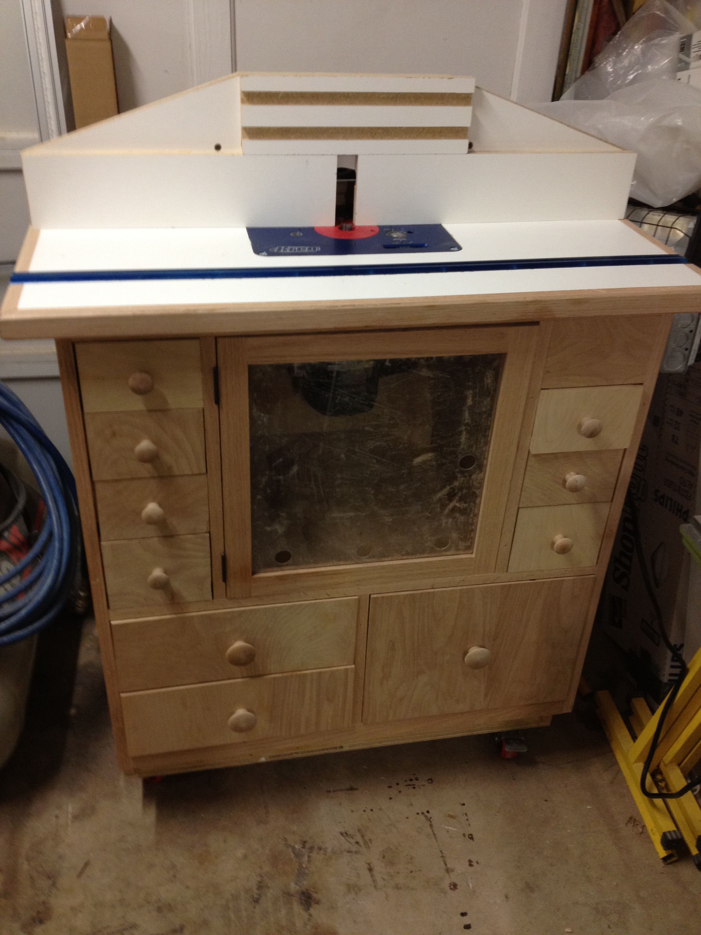 My first project a router table based on plans from the new yankee my first project a router table based on plans from the new yankee workshop greentooth Choice Image