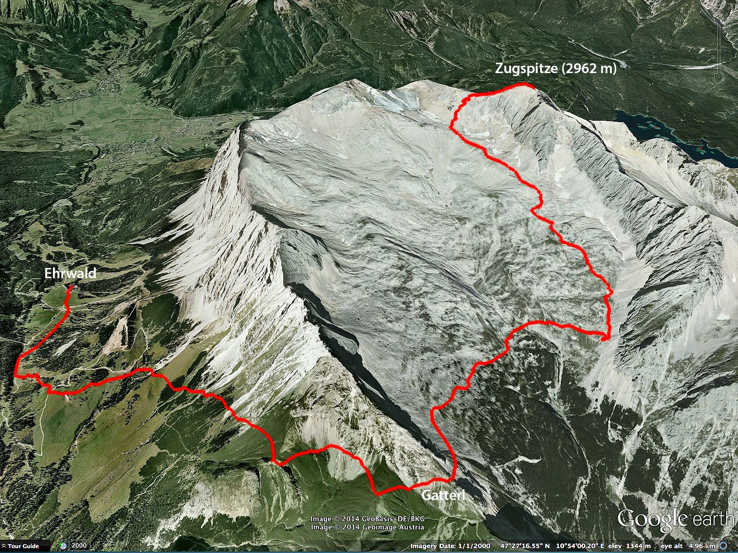The Zugspitze Challenge GPX Route Map  #zugspitze #alps