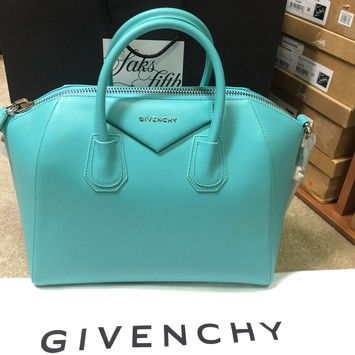 ee51a08bbe8a8 Givenchy Antigona Turquoise Blue Satchel in Green | Givenchy Bag ...