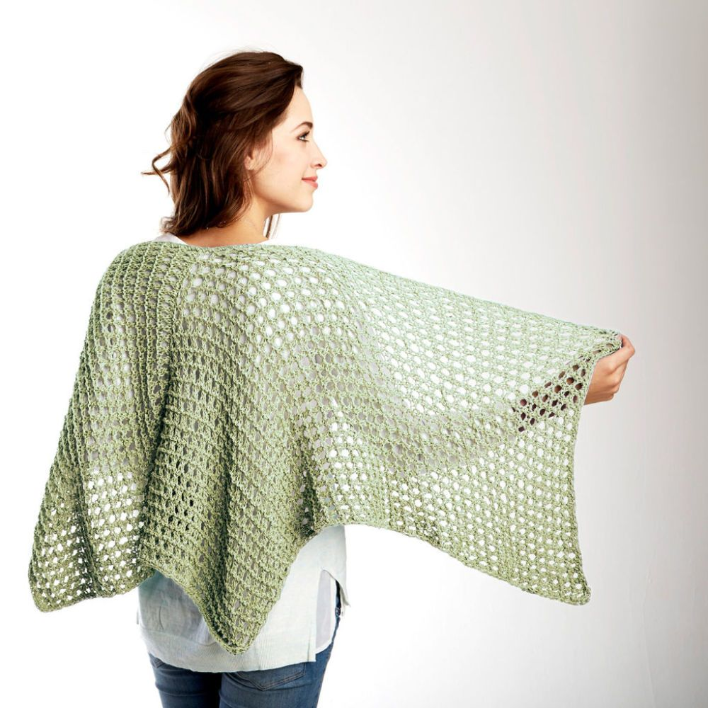 Free knitting pattern for super easy lace shawl Net Results Knit ...