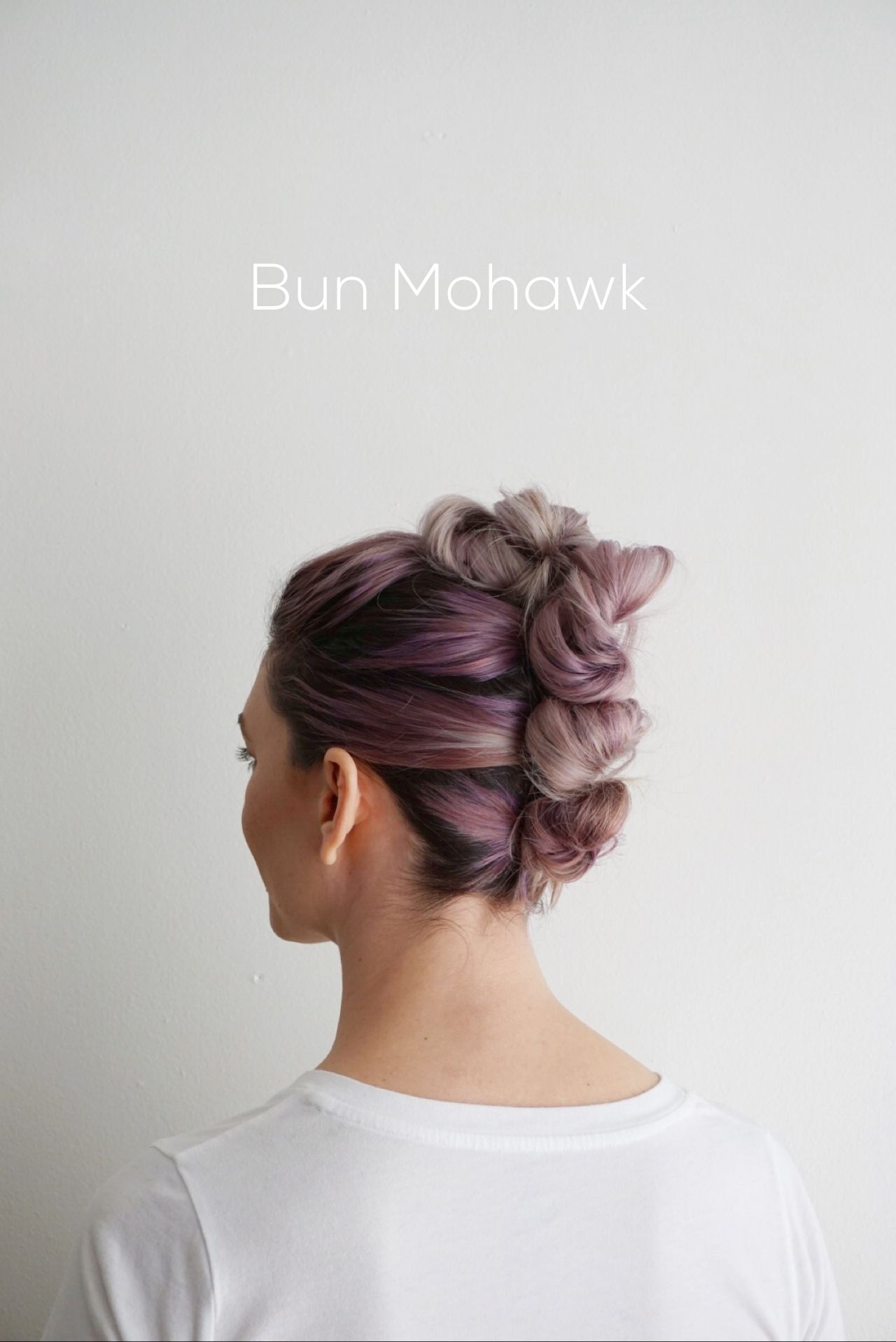 Hairstyle bun mohawk diy pinterest mohawks hair style and