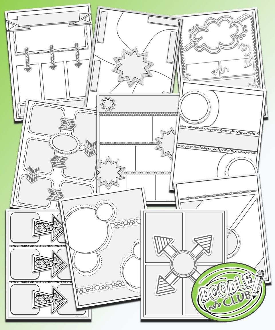 Templates to make your own doodle notes for your classroom - Doodle ...
