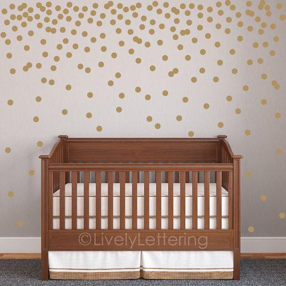 "mini 2"" polka dot decal set, circle wall decals, geometric pattern"