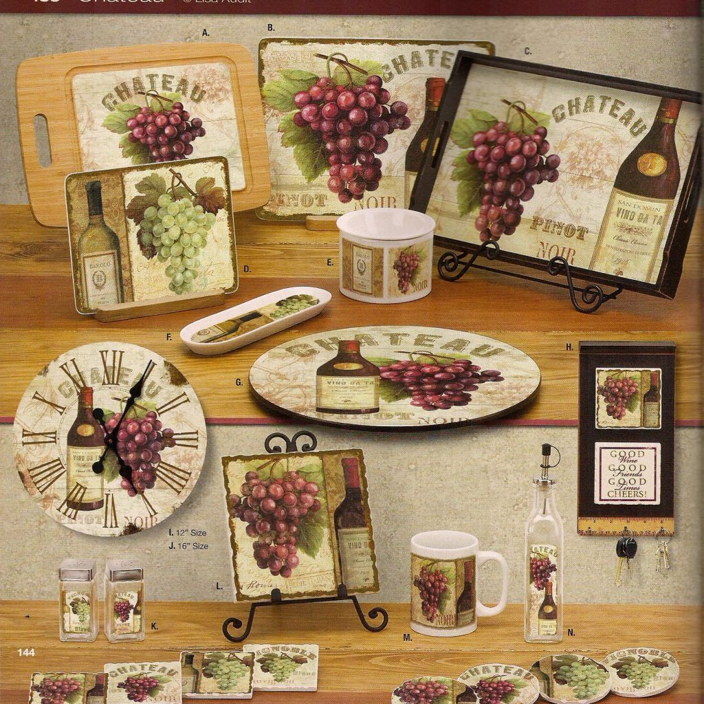 Grapes And Wine Home Decor
