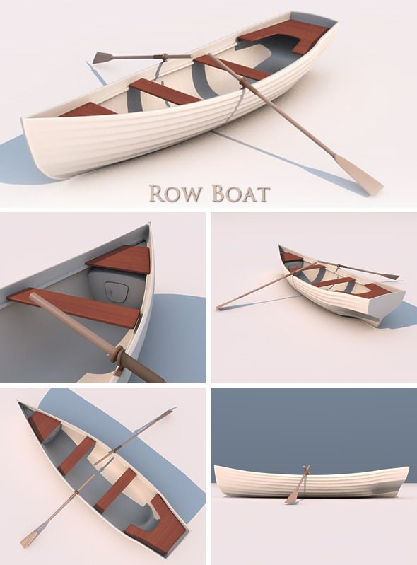 3docean 3d row boat 3121977 paper craft pinterest for 3d paper lighthouse template