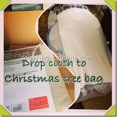 Christmas Tree Bag tutorial.  Check it out at Crafty Cousins!