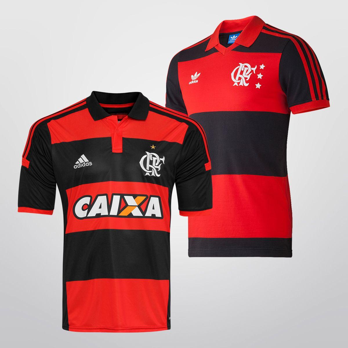 2e97396475 Camisa Adidas Flamengo I 14 15 + Camisa Retrô