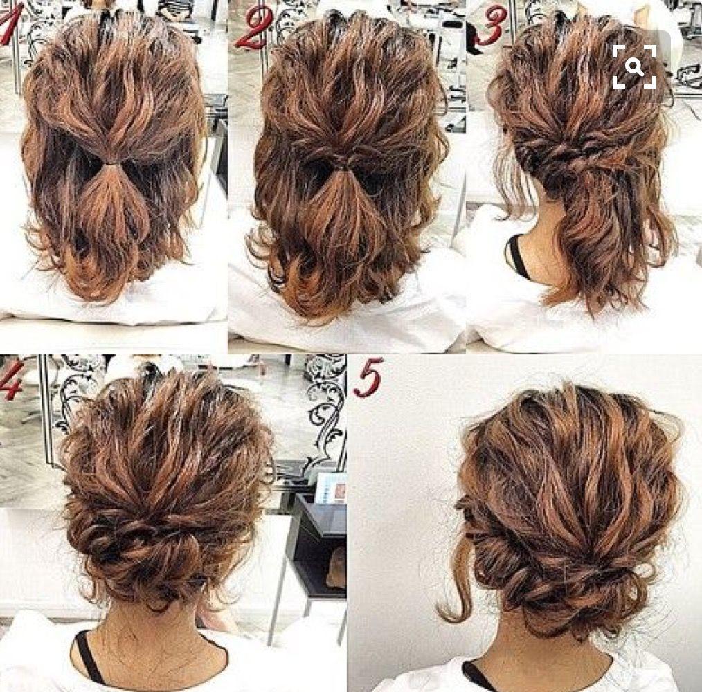 håruppsättning lockigt hår
