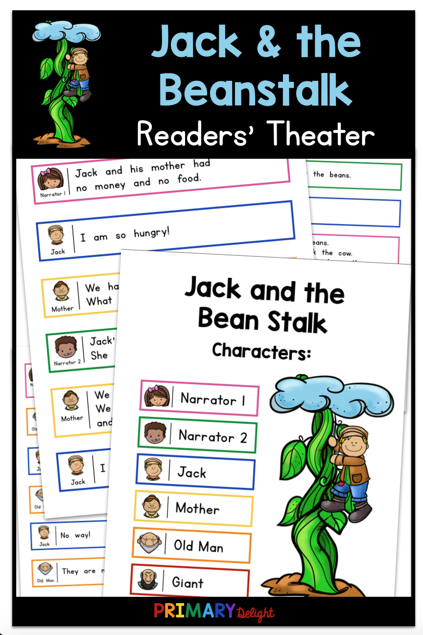 Use This Fun Jack And The Beanstalk Readers Theater Script For Guided Reading When You Study Fairy Tal First Grade Reading Readers Theater Teaching Elementary [ 1296 x 864 Pixel ]