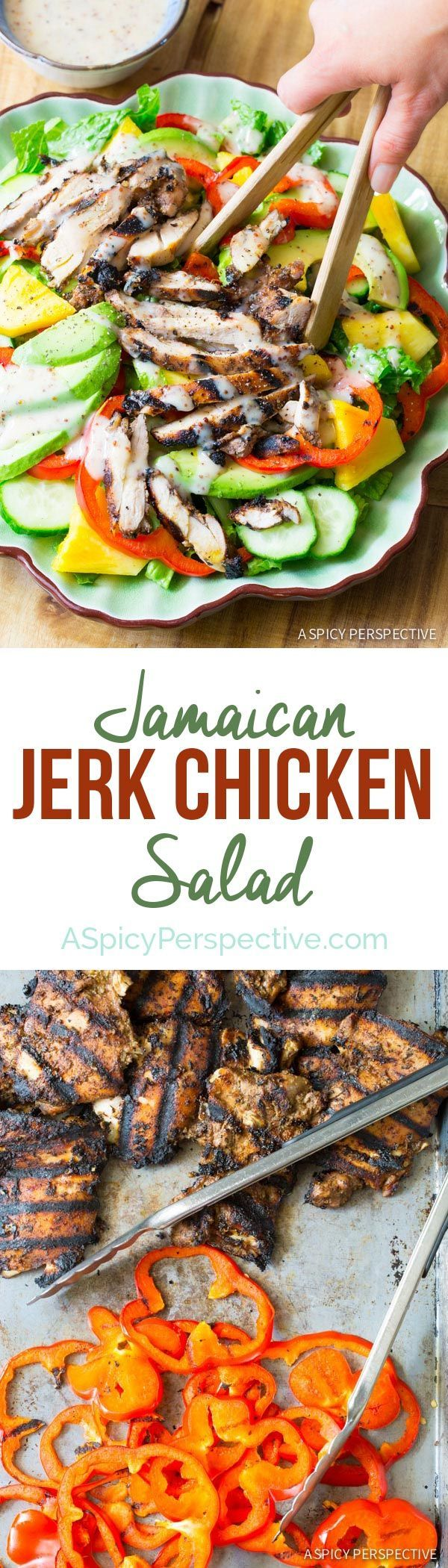 Jamaican jerk chicken salad recipe salad easy and red peppers food forumfinder Gallery