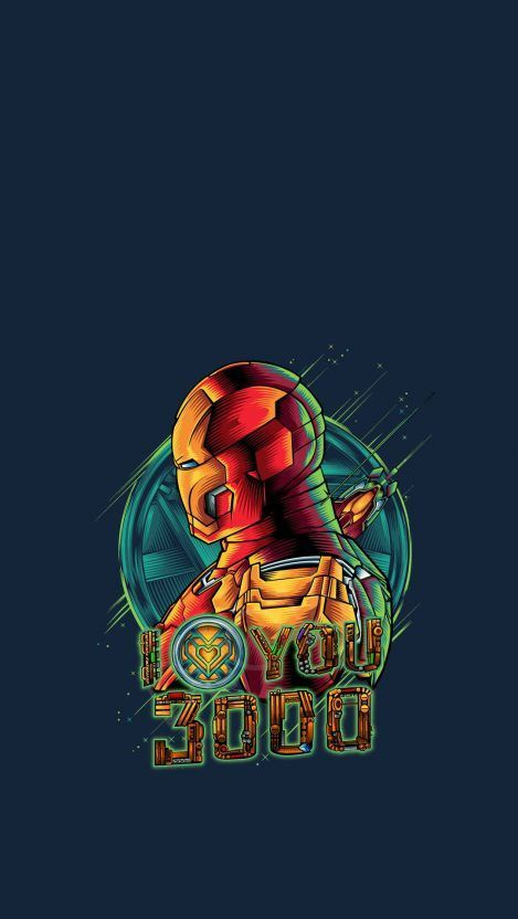 Iron Man Art I Love You 3000 iPhone Wallpaper
