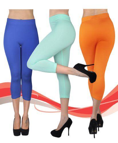 Women/'s Solid Color Soho Capri Leggings